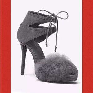 Michael kors  rabbit fur shoes  suede  size 9 New